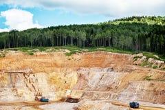 Stone quarry Stock Images