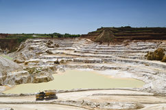 Stone quarry with excavate Stock Photography