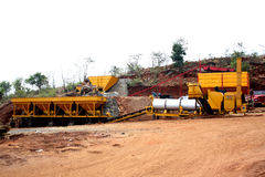 Stone Quarry Machines Stock Photo