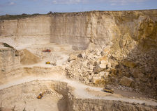 Stone quarry Royalty Free Stock Photos
