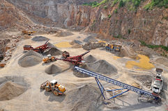 Stone quarry mine Royalty Free Stock Photography