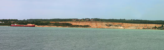 Stone quarry panorama Stock Images