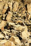 Stone quarry sandstone Royalty Free Stock Image