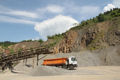 Stone quarry scenery Stock Images