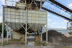 Stone quarry with silos Stock Photos