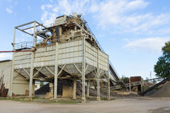 Stone quarry with silos Stock Images