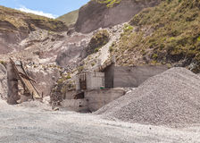 View Of Limestone Quarry Stock Photography