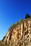 Stone quarry steep cliff abbys Stock Images