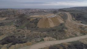 Stone Quarry. In Romania, aerial clip stock footage