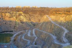 Stone quarry Royalty Free Stock Images