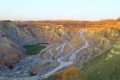 Stone quarry Stock Photography
