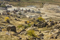 Stone quarry work Stock Photography