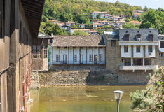 Stone quay in the old Lovech, Bulgaria stock photography
