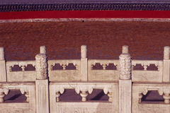 Stone railing Royalty Free Stock Photo