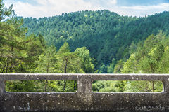 Stone railing of a bridge Royalty Free Stock Photography