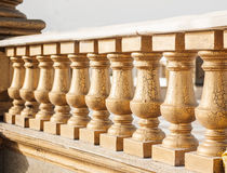 Stone railing on the bridge in the park Stock Photography