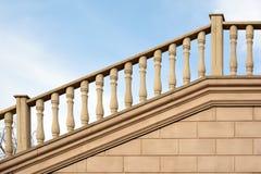 Stone railing. Royalty Free Stock Photo