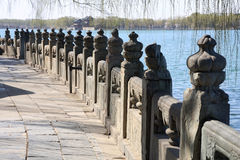Stone railing in Summer Palace Royalty Free Stock Photography