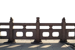 Stone railings. Handcrafted stone railings, isolated on White background Stock Photography