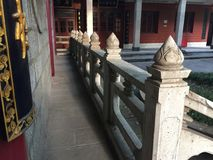 Stone railings. Corridor of ancient temples, stone railings is a typical Chinese classical Stock Image