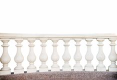 Stone railings, isolated. On a white background Stock Photography
