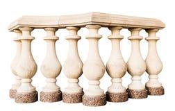 Stone railings, isolated. On a white background Royalty Free Stock Image