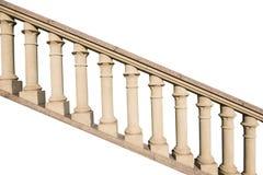 Stone railings, isolated. On a white background Royalty Free Stock Photo