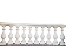 stone railings, isolated Royalty Free Stock Images