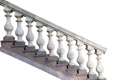Stone railings, isolated. On a white background Royalty Free Stock Photos
