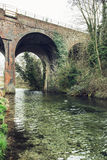 Stone railway bridge in England Stock Photos