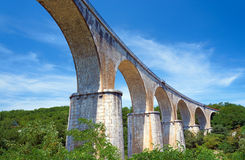 Stone, Railway viaduct over the River Ardeche Stock Image