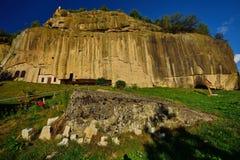 The Stone Ravens (Corbii de piatra ) monastery from Corbi, Arges county, Romania. Stock Photos