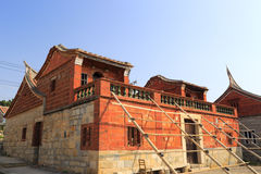 Stone and red brick house Royalty Free Stock Image