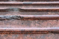 Stone red stairs old detail closeup Stock Photo