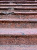 Stone red stairs old detail closeup lines Stock Photography