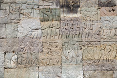 Stone relief at Angkor Wat Stock Images