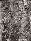 Stone relief detail in Chichen Itza Royalty Free Stock Images
