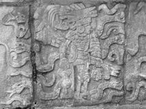 Stone relief detail in Chichen Itza Stock Images