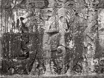 Stone relief detail in Chichen Itza Stock Photo