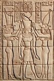 Stone relief from egypt Stock Photos
