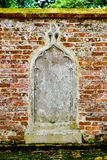 Stone relief red bricks stock image