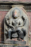 Stone relief of Shiva the destroyer. In Patan. Nepal Stock Photos