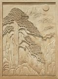 Stone relief visitor Stock Images