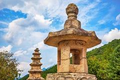 Stone religious monument in Korea Royalty Free Stock Photography