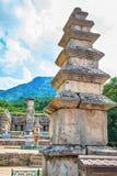 Stone religious monument in Korea Royalty Free Stock Photo