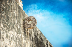 Stone ring for Mayan ballgame, juego de pelota Stock Images