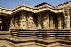 Stone rings. Vydyantheshawar temple of talakad in Mysore, karnataka, India stock images