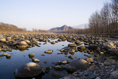 Stone river. There have pure and cold water in this river Royalty Free Stock Photos