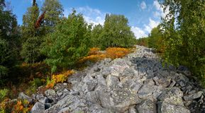 The stone river. Royalty Free Stock Photography