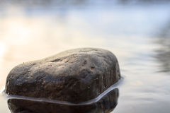 Stone in a river Stock Image